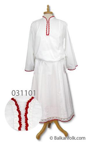 Дълга женска шопска риза за литак без бродерия